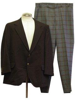 1970's Mens Combination  Suit