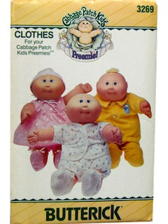 1980's Doll Pattern - Cabbage Patch Preemie