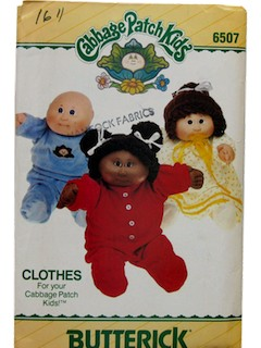 1980's Doll Pattern - Cabbage Patch Kids