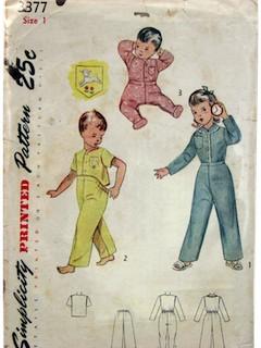 1950's Unisex/Child Pattern