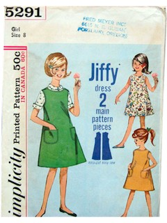 1960's Womens/Childs Dress Pattern