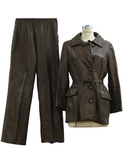 1970's Womens Leather Pants set.
