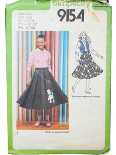 1970's Womens/Junior Pattern