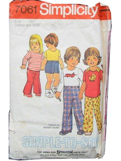 1970's Unisex/Toddlers Pattern