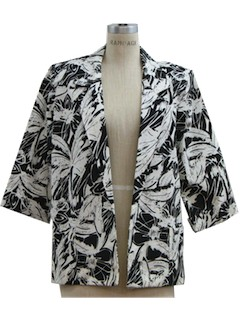 1980's Womens Totally 80s Boyfriend Blazer Jacket