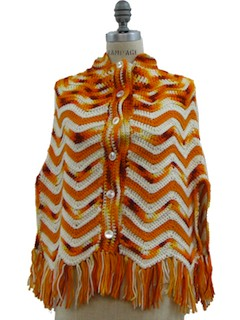 1960's Womens Crocheted Cape