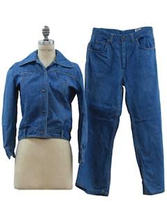 1970's Womens Jeans Pantsuit*