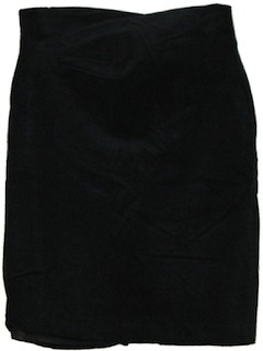 1980's Womens Leather Skirt