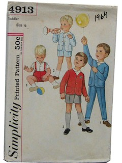 1960's Mens/Childs Pattern