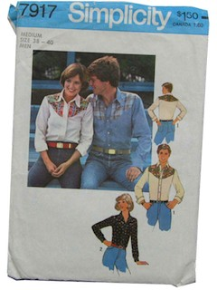1970's Womens and Mens Pattern