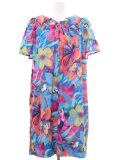 1970's Womens Hawaiian Mini Muu Muu Dress