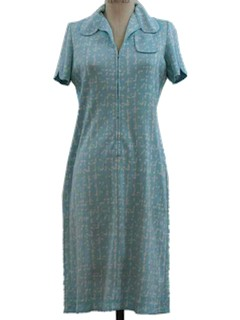 1970's Womens Stretch Knit Dress