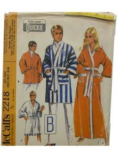 1960's Unisex Robe Pattern