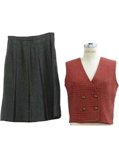 1960's Womens Vest Suit
