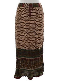 1970's Womens Broomstick Hippie Skirt
