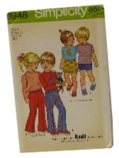 1970's Unisex/Childs Sewing Pattern