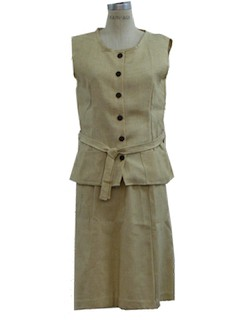 1970's Womens Vest and Skirt Suit