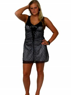 1980's Womens Totally 80s style Punk Goth Mini Dress