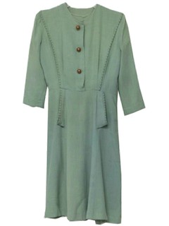 1930's Womens Solid Dress