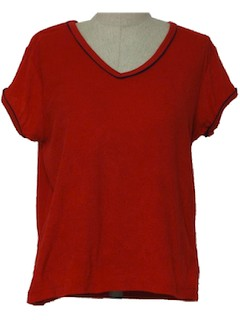 1980's Womens Terry Cloth Top