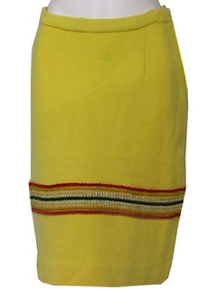 1960's Womens Wool Knit Skirt