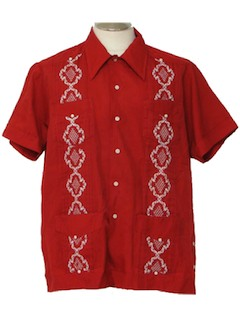 1970's Mens Guaybera Shirt