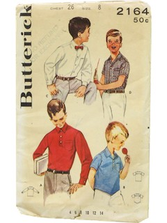 1950's Mens/Childs Shirt Pattern