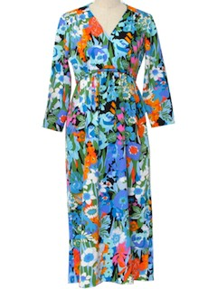 1970's Womens Maxi Dress or Town Gown