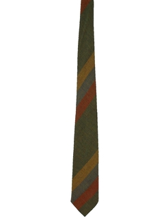 1960's Mens Skinny Rockabilly Diagonal Necktie