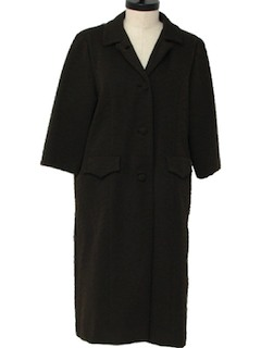 1960's Womens Knit Dress/Coat Jacket