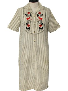 1970's Womens Hippie Frock Dress