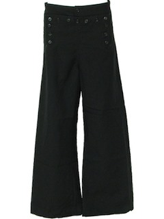 1970's Mens Wool Navy Bellbottom Pants