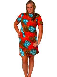 1960's Womens Print Mini Dress