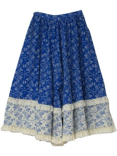 1970's Womens Coulotte Skirt