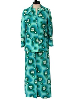 1970's Womens Knit Gown Dress