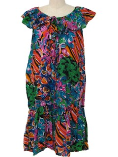 1980's Womens Hawaiian Dress