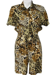 1980's Womens or Girls Totally 80s Romper Jumpsuit