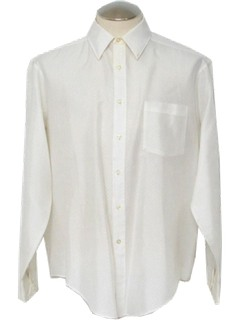 1970's Mens White Shirt
