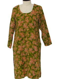 1970's Womens Hippie Tunic Dress