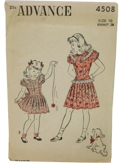 1940's Women/Childs Sewing pattern