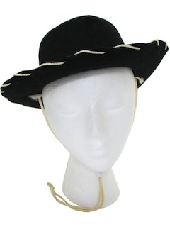 1960's Unisex/Childs Accessories - Western Cowboy Hat