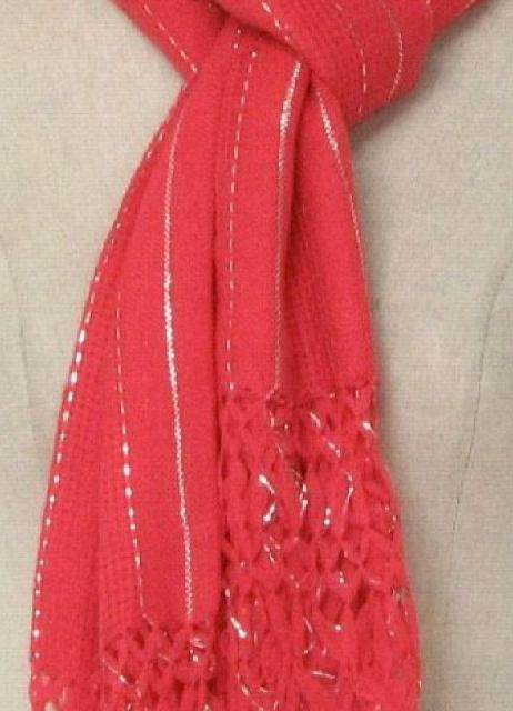 1950's Womens Woven Shawl Scarf