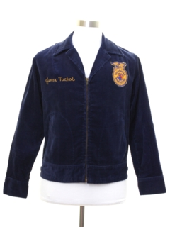 1960's Unisex Corduroy Future Farmers of America Zip Jacket