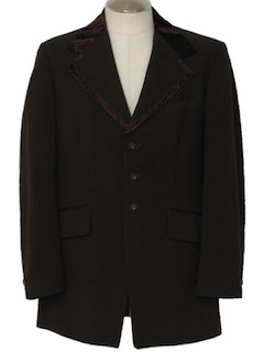 1970's Mens Brown Tuxedo Jacket