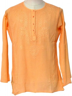 1970's Mens Kurta Hippie Shirt