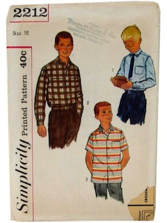1960's Mens/Childs Shirt Pattern