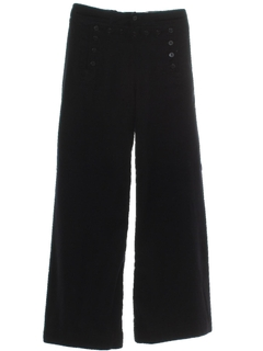 1960's Mens Wool Navy Bellbottoms Pants