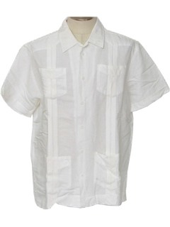 1980's Mens Guaybera Shirt
