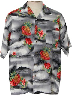 1980's Mens Hawaiian Shirt*