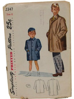 1940's Mens/Boys Sewing Pattern